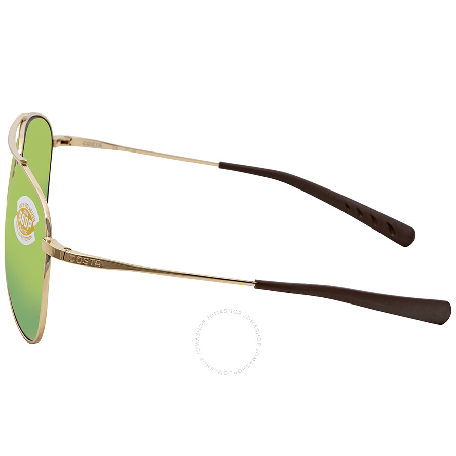 a51d4a36d7 Costa Del Mar Cook Green Mirror 580P Aviator Sunglasses COO 126 OGMP ...