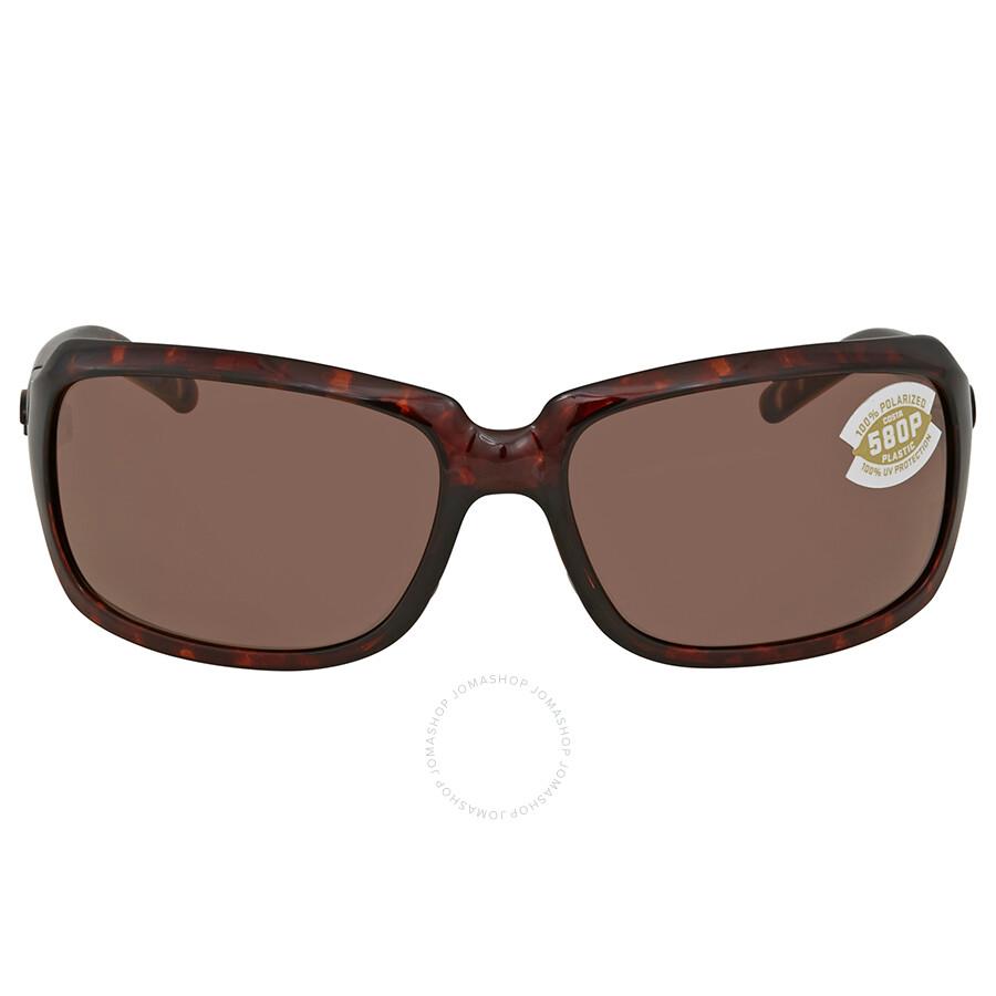 63090eb708 ... Costa Del Mar Copper 580P Polarized Rectangular Sunglasses IB 10 OCP ...