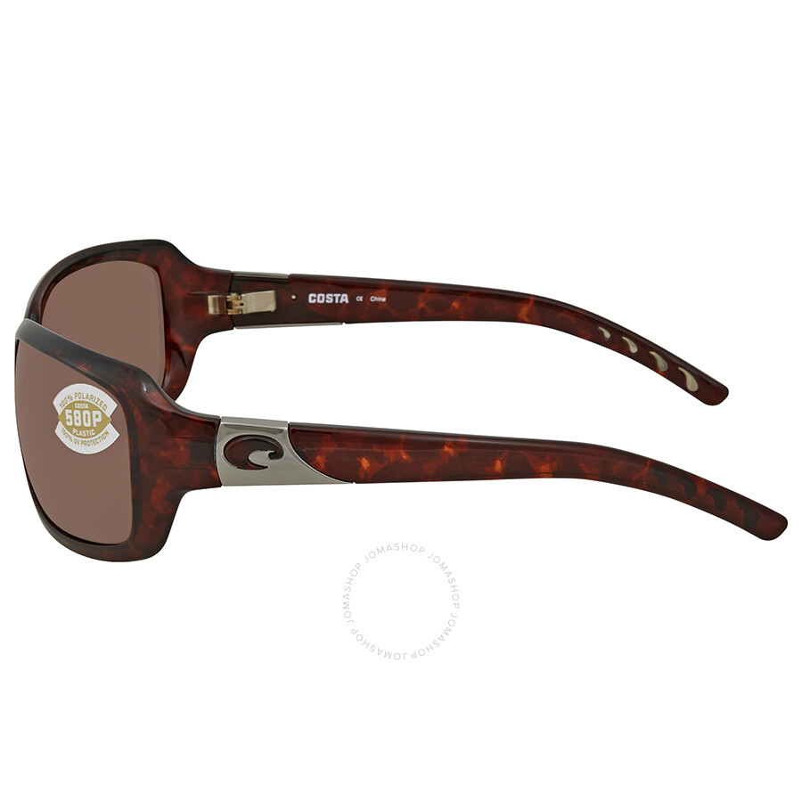 6330e2a93a Costa Del Mar Copper 580P Polarized Rectangular Sunglasses IB 10 OCP ...