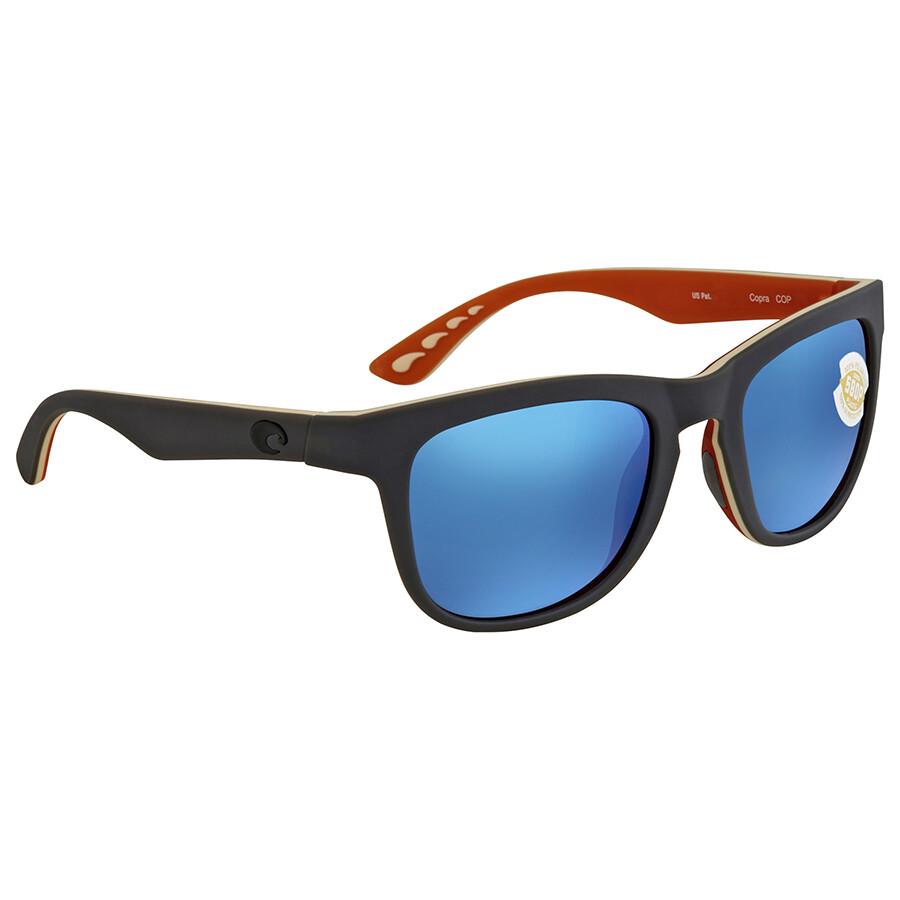 716489fc1c Costa Del Mar Copra Blue Mirror 580P Square Sunglasses COP 102 OBMP Item  No. COP 102 OBMP
