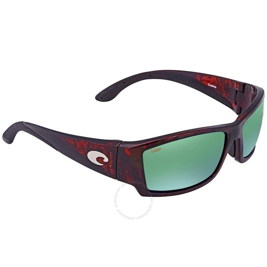 dd51e0ac53eb Costa Del Mar Corbina Global Fit Green Mirror 580P Polarized Wrap Men's  Sunglasses CB 10GF OGMP Item No. CB 10GF OGMP