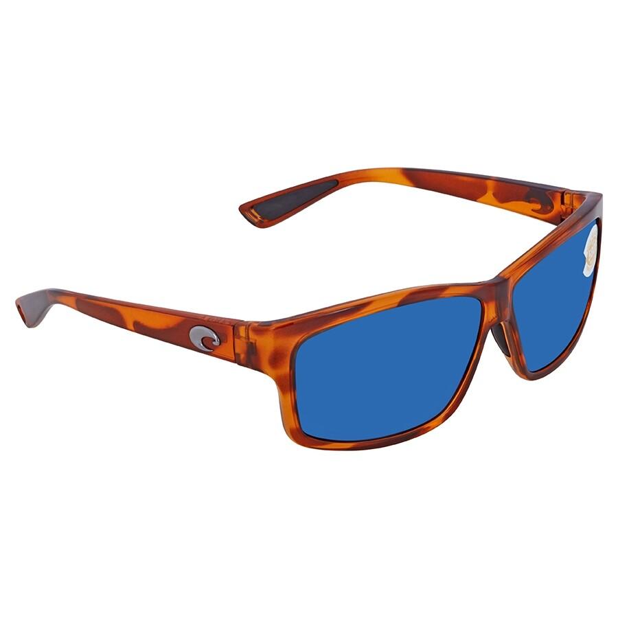 973ba5dda4a09 Costa Del Mar Cut Blue Mirror Polarized Plastic Rectangular Sunglasses UT  51 OBMP ...
