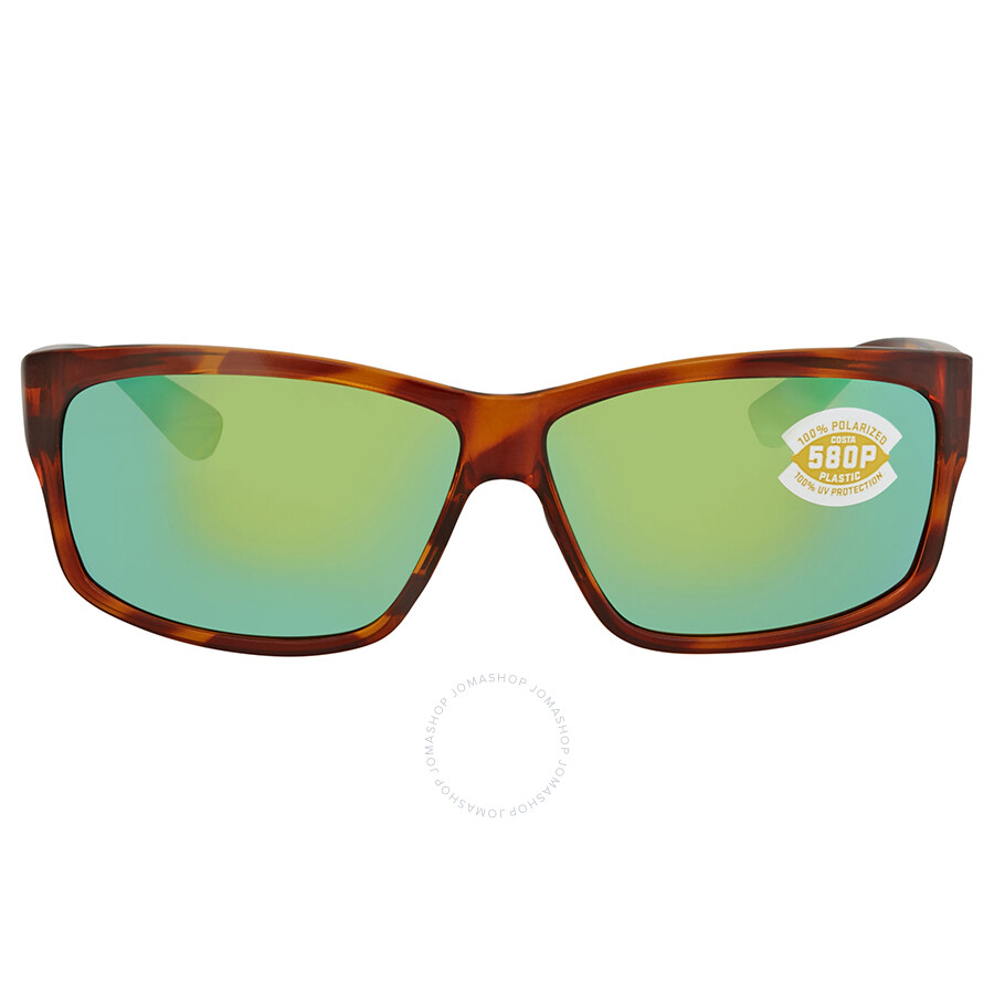 3cdfea88a5 ... Costa Del Mar Cut Green Mirror Rectangular Sunglasses UT 51 OGMP ...