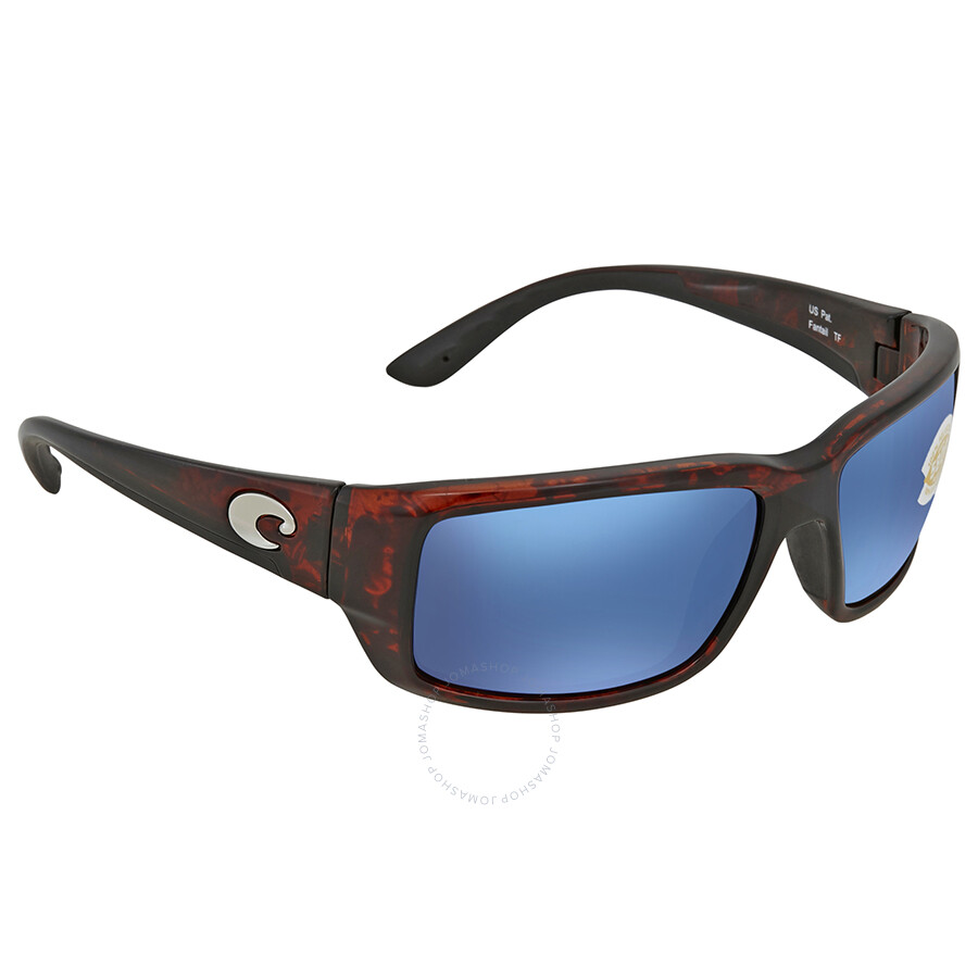 87ff720454 Costa Del Mar Fantail Blue Mirror Rectangular Sunglasses TF 10 OBMP Item  No. TF 10 OBMP