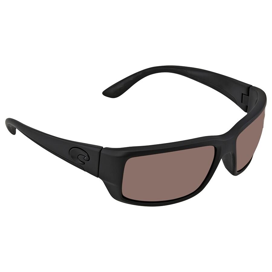 cc8c7c4268d Costa Del Mar Fantail Copper Mirror Silver Polarized Plastic Rectangular  Sunglasses TF 01 OSCP ...