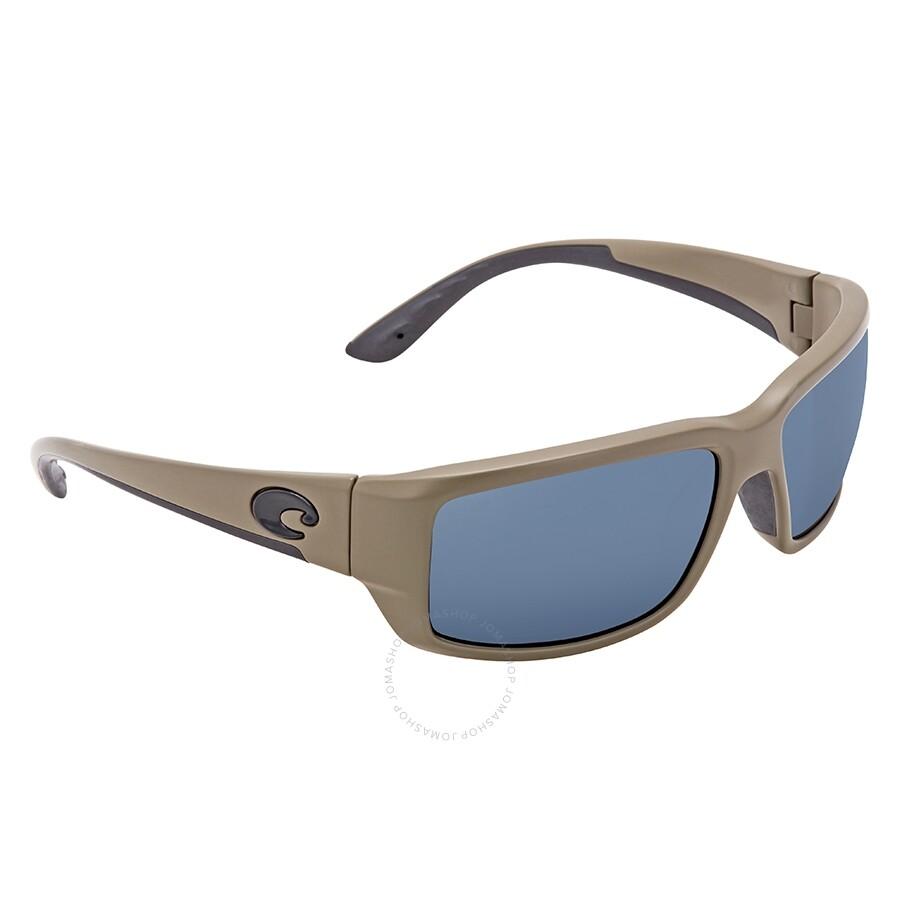 18ea30f77d8 Costa Del Mar Fantail Gray Polarized Plastic Rectangular Sunglasses TF 198  OGP ...