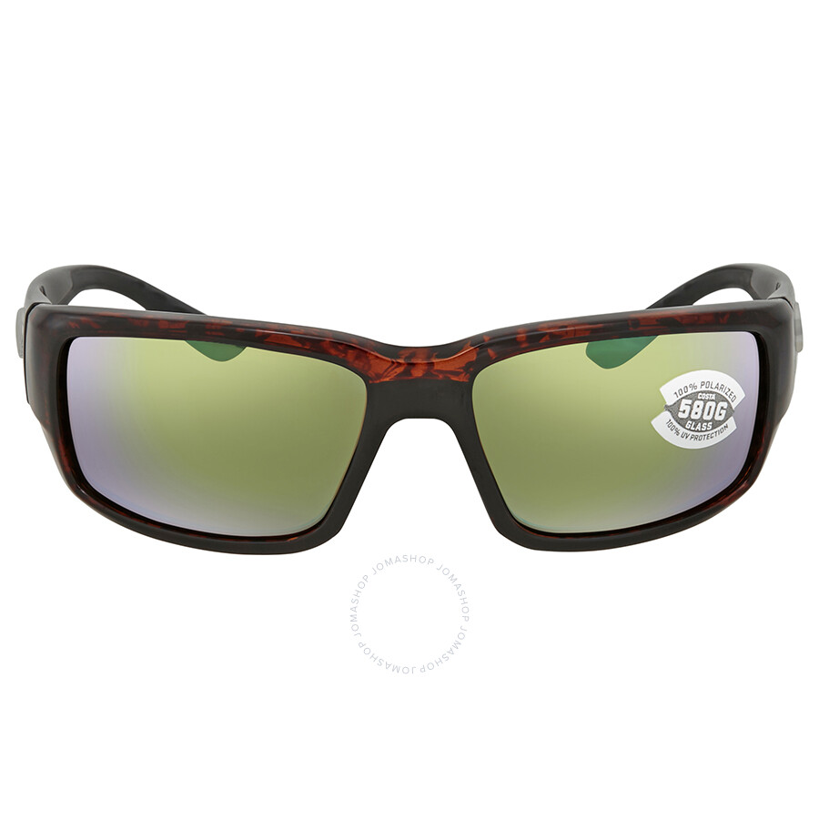 2033319ce1bd ... Costa Del Mar Fantail Green Mirror Glass Rectangular Sunglasses TF 10  OGMGLP ...