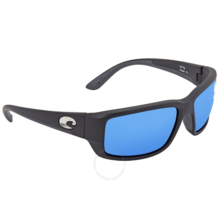 c1948f6524 Costa Del Mar Fantail Medium Fit Blue Mirror Glass Rectangular Sunglasses  TF 11 OBMGLP Item No. TF 11 OBMGLP
