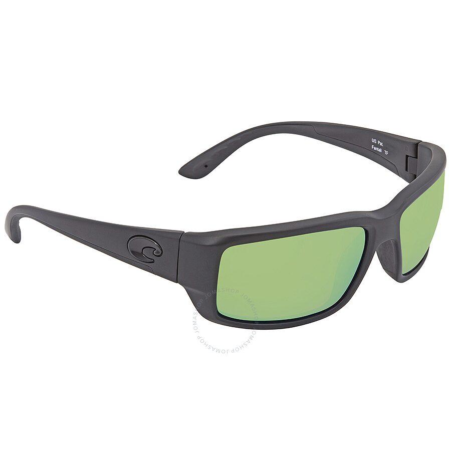 ab5c7deefa386 Costa Del Mar Fantail Medium Fit Green Mirror 580P Polarized Rectangular  Sunglasses TF 01 OGMP ...