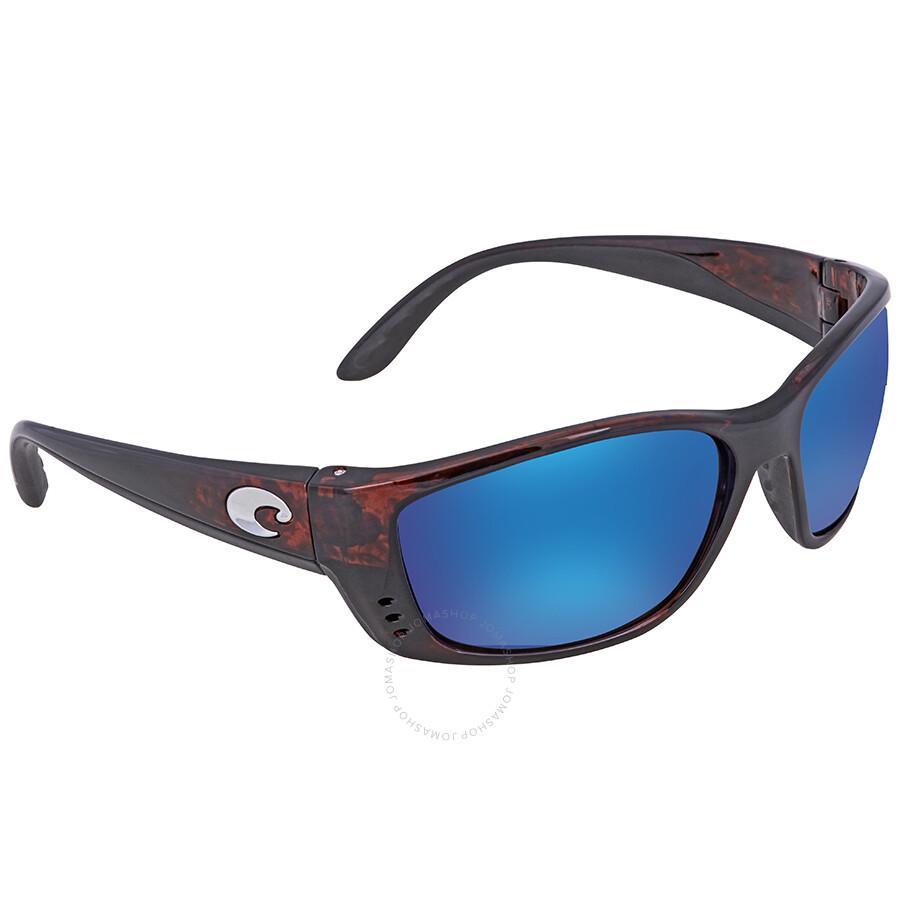 Costa Del Mar Fisch Sunglasses Tortoise//Silver Mirror 580Glass