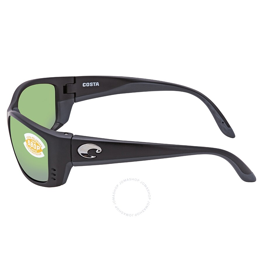 d0e090e915 ... Costa Del Mar Fisch Green Mirror Polarized Plastic Square Sunglasses FS  11 OGMP