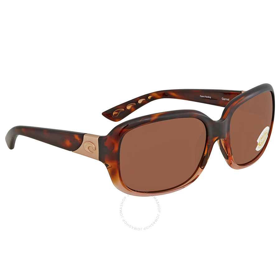 ded64dc864c Costa Del Mar Gannet Brown Polarized Sunglasses GNT 120 OCP Item No. GNT  120 OCP