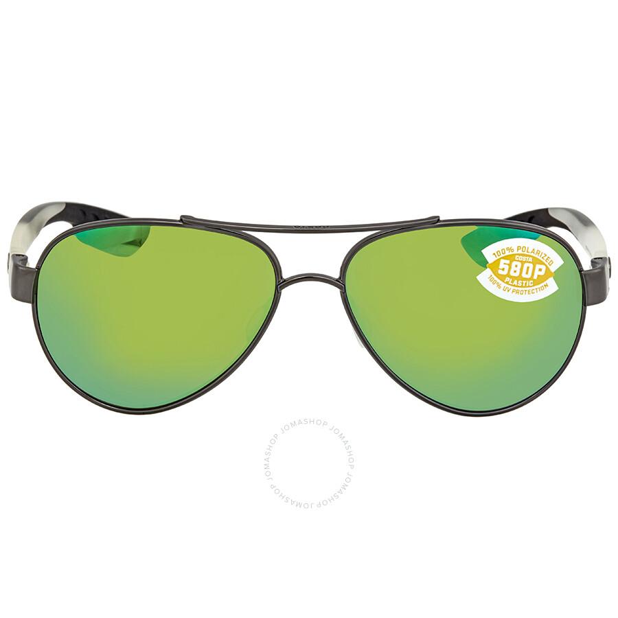 891b274db4c ... Costa Del Mar Green Mirror 580P Aviator Sunglasses LR 74 OGMP ...