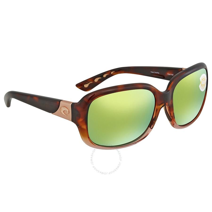 a60c4cc98d2c1 Costa Del Mar Green Mirror Polarized Square Sunglasses GNT 120 OGMP Item  No. GNT 120 OGMP