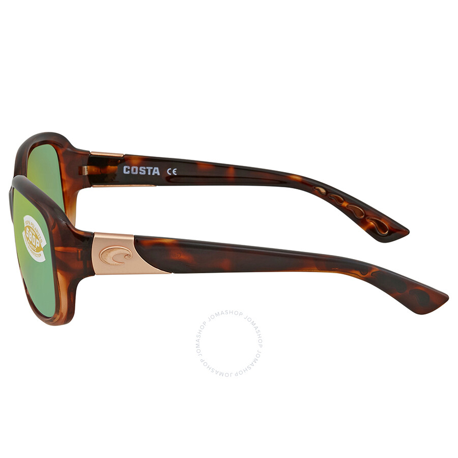 3f897a93c4 Costa Del Mar Green Mirror Polarized Square Sunglasses GNT 120 OGMP ...