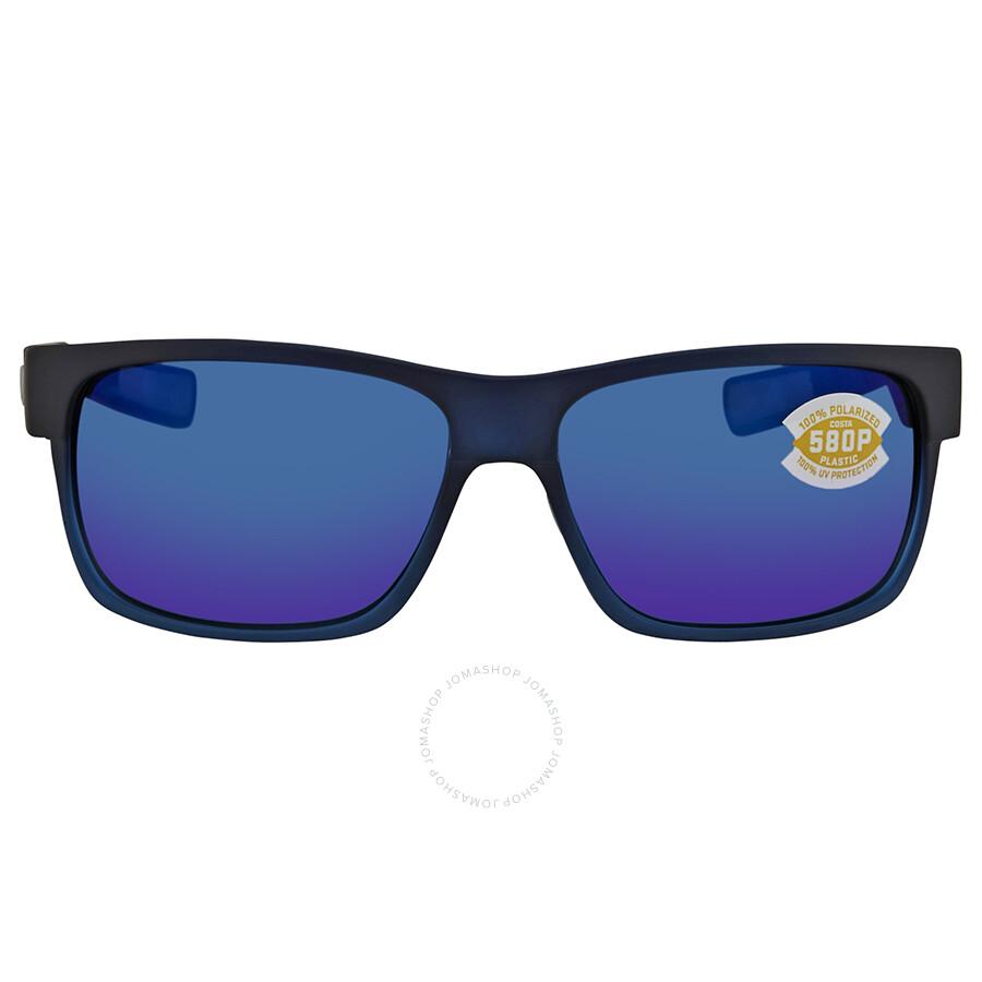 38e284289b9 ... Costa Del Mar Half Moon Blue Mirror Polarized Plastic Rectangular  Sunglasses HFM 193 OBMP ...