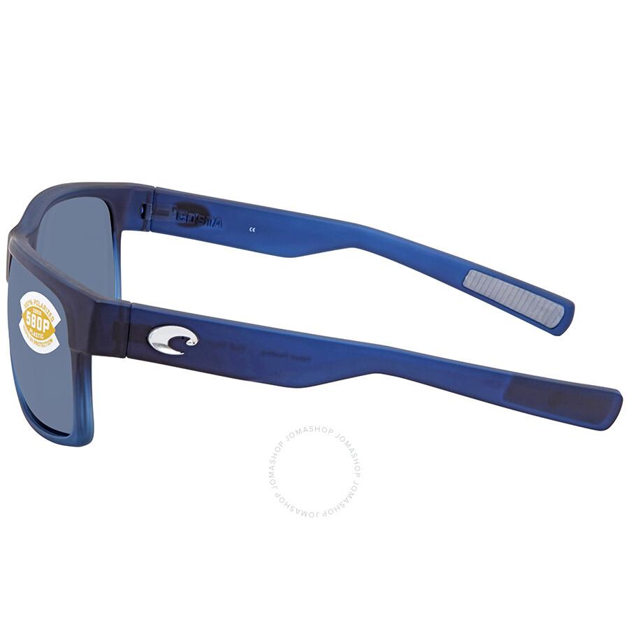 3451c0654fb Costa Del Mar Half Moon Gray 580P Rectangular Sunglasses HFM 193 OGP ...