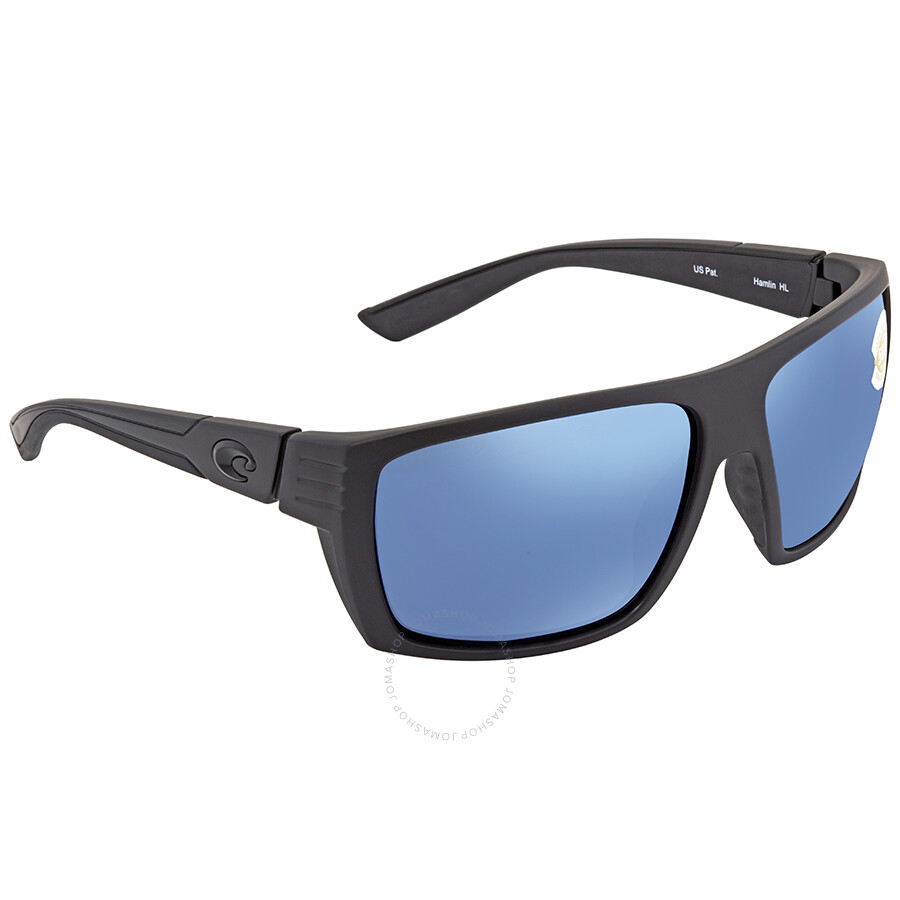 Costa Del Mar Blue Mirror 580P Rectangular Sunglasses AT 01 OBMP AT 01 OBMP