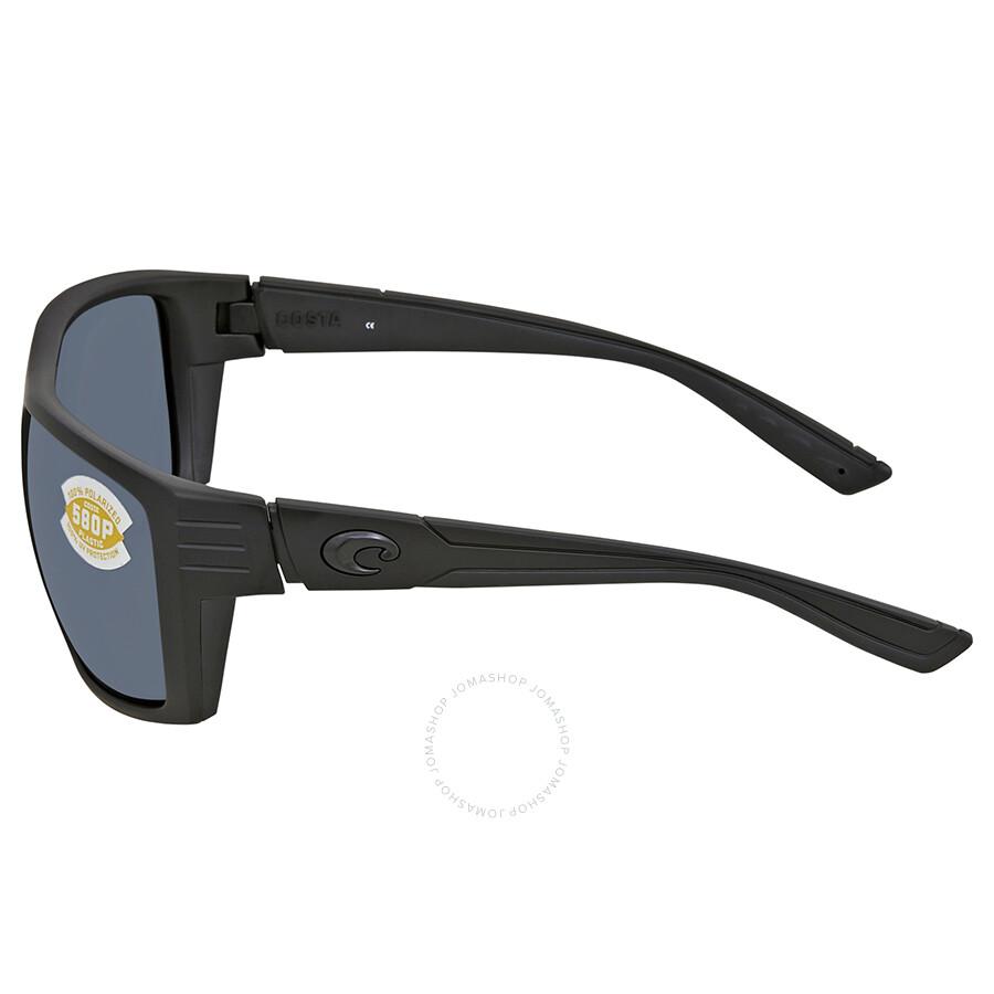 e0aaa1e641f Costa Del Mar Hamlin Gray 580P Rectangular Sunglasses HL 01 OGP ...