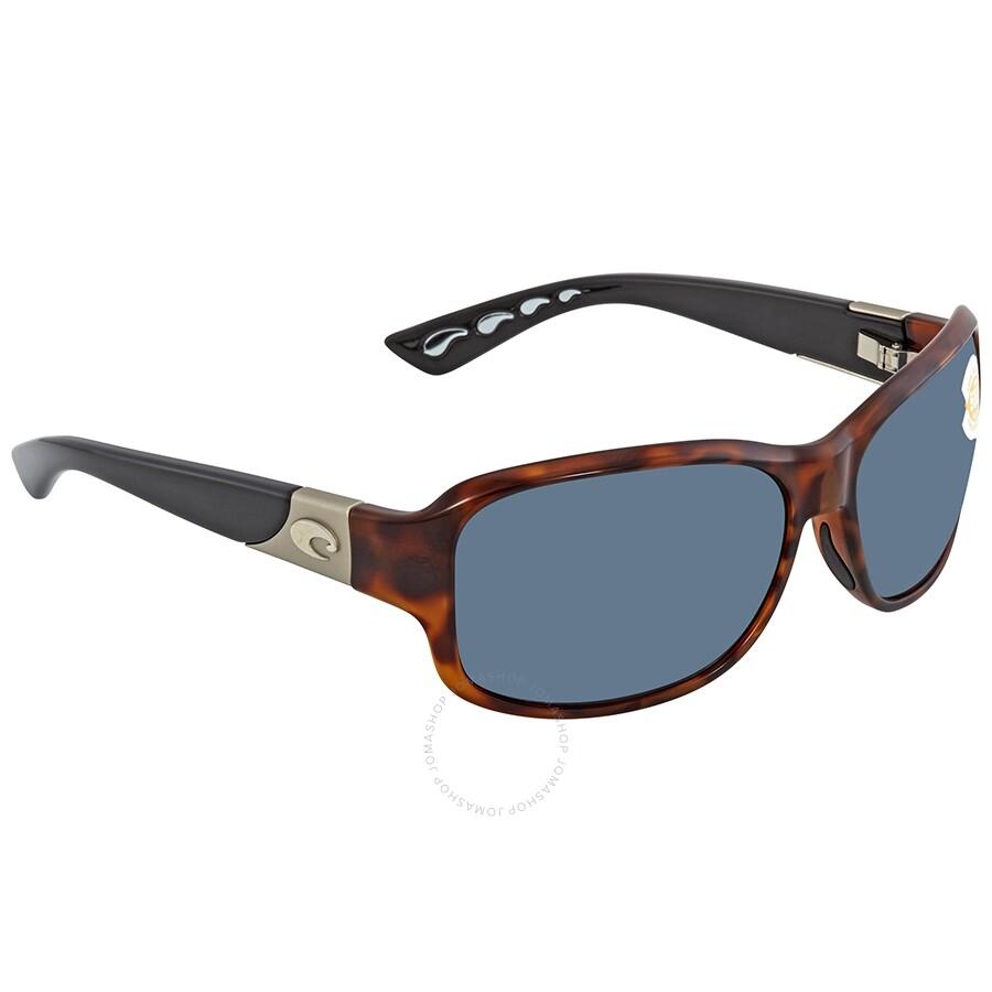 0d74a3f3bac3 Costa Del Mar Inlet Gray Polarized Plastic Rectangular Sunglasses IT 76 OGP  Item No. IT 76 OGP