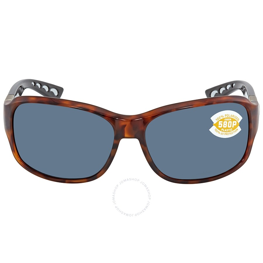 9172b131937ce ... Costa Del Mar Inlet Gray Polarized Plastic Rectangular Sunglasses IT 76  OGP ...