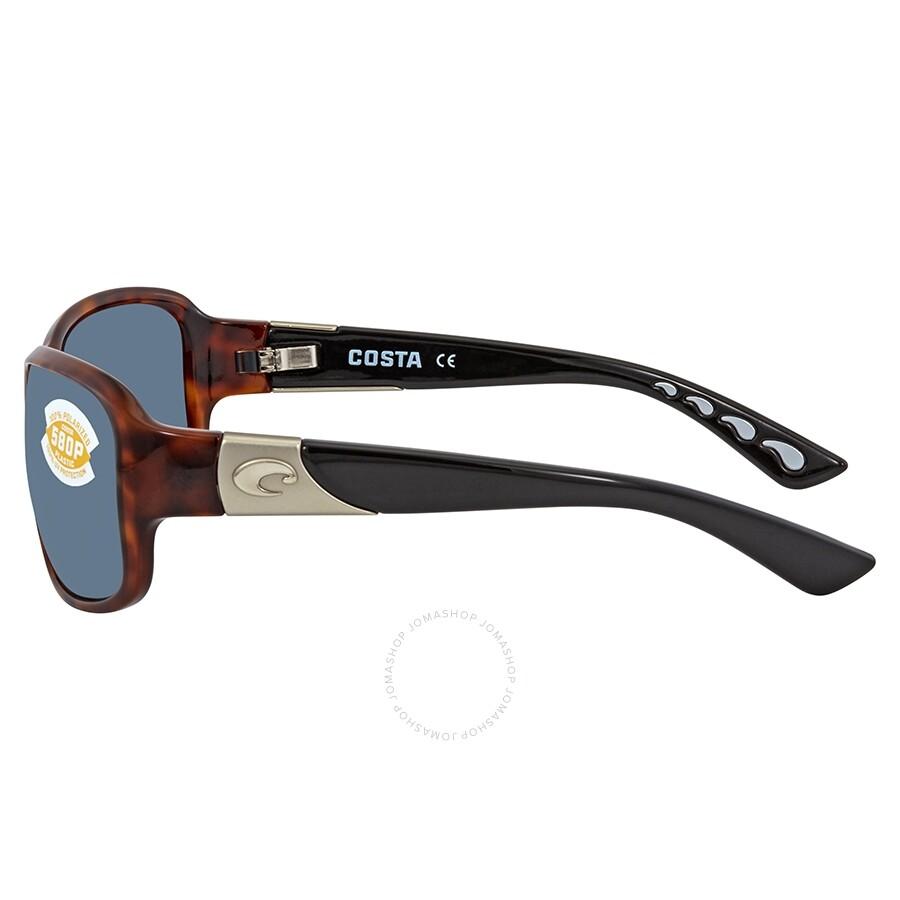 34db85da9bed ... Costa Del Mar Inlet Gray Polarized Plastic Rectangular Sunglasses IT 76  OGP