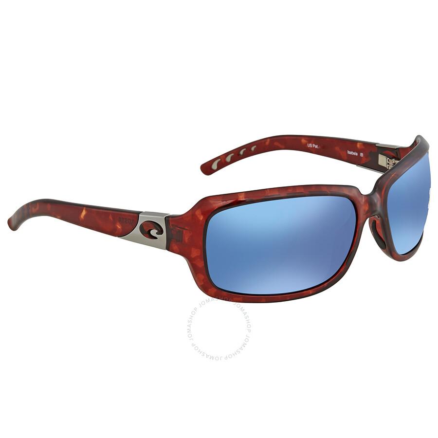fbb6eb9c75 Costa Del Mar Isabela Blue Mirror 580P Wrap Sunglasses IB 10 OBMP Item No. IB  10 OBMP