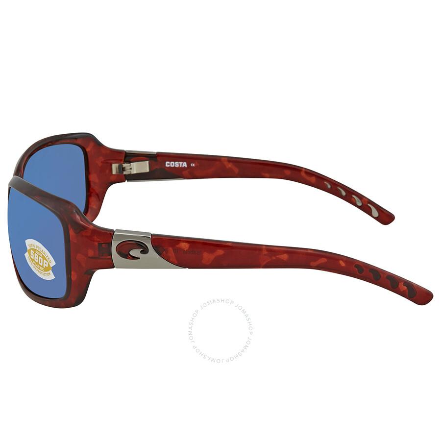 902fd3e6d5 Costa Del Mar Isabela Blue Mirror 580P Wrap Sunglasses IB 10 OBMP ...