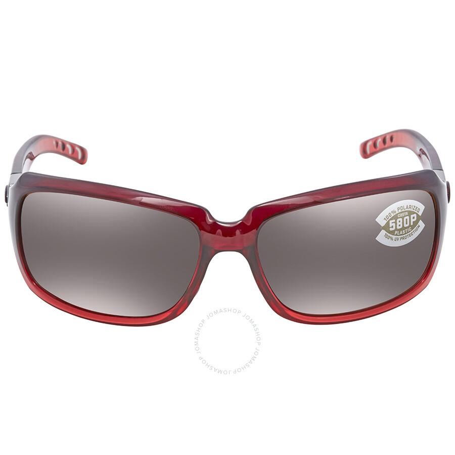 c6b8f04b5f ... Costa Del Mar Isabela Copper Silver Mirror Sunglasses IB 48 OSCP ...
