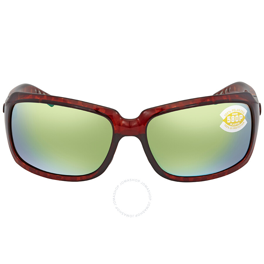 3391773a21 ... Costa Del Mar Isabela Green Mirror 580P Rectangular Sunglasses IB 10  OGMP ...