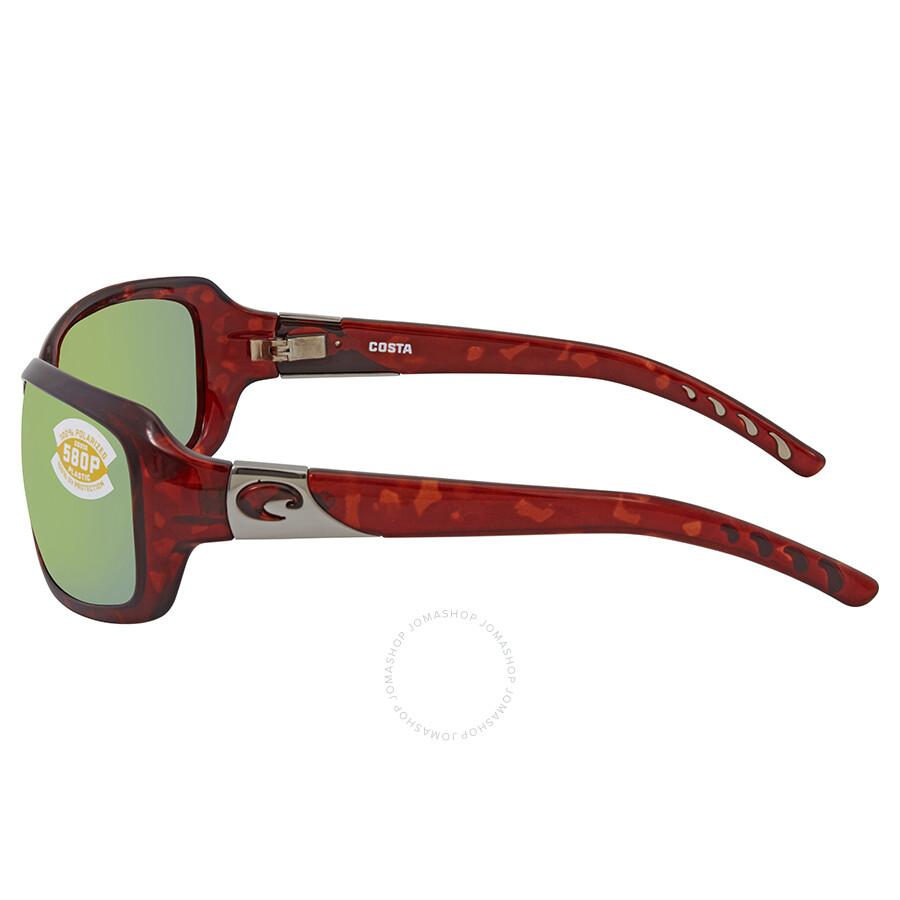 c46496147fbf9 ... Costa Del Mar Isabela Green Mirror 580P Rectangular Sunglasses IB 10  OGMP
