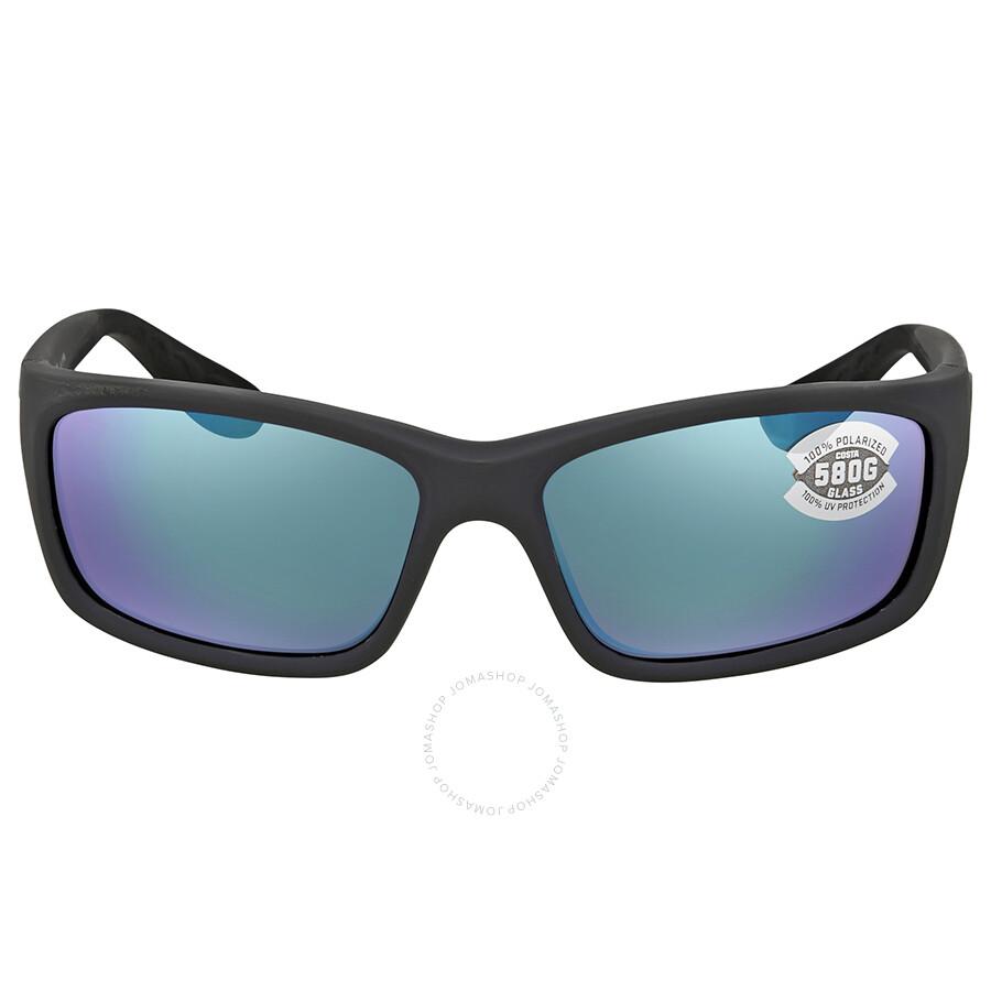 26323172f4f5 ... Costa Del Mar Jose Green Mirror Glass 580 Rectangular Sunglasses JO 98  OGMGLP ...