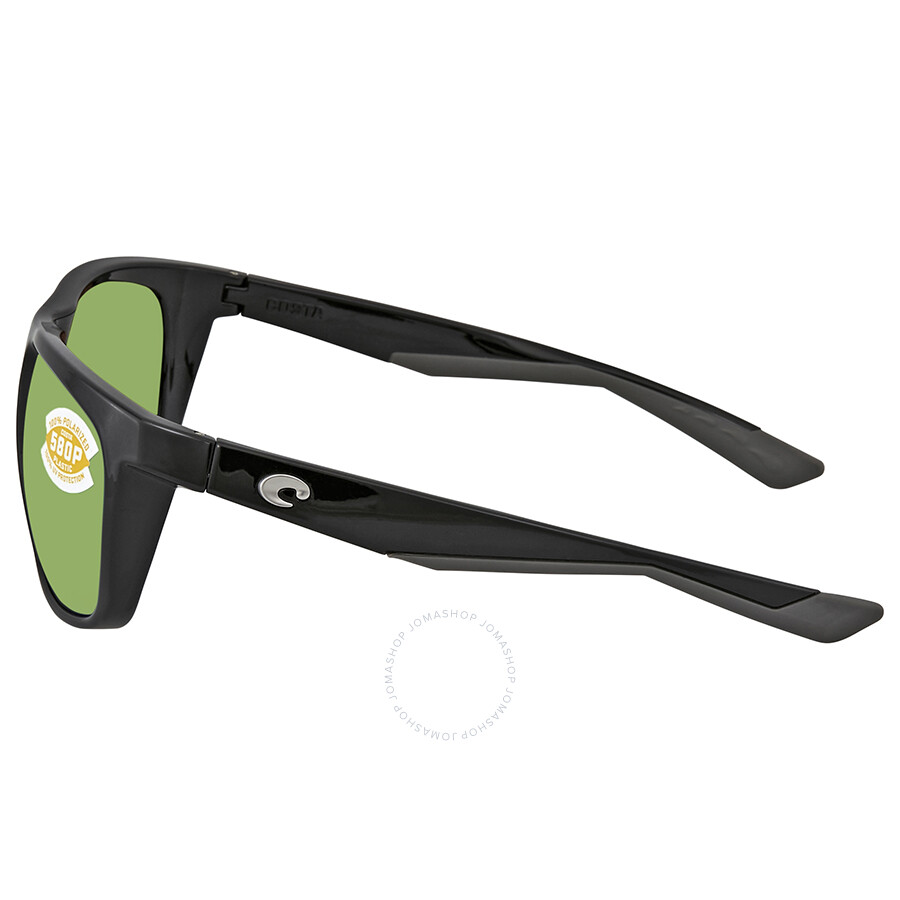 6c181ffe8d6 ... Costa Del Mar Kiwa Green Mirror Polarized Plastic Rectangular Sunglasses  KWA 11 OGMP