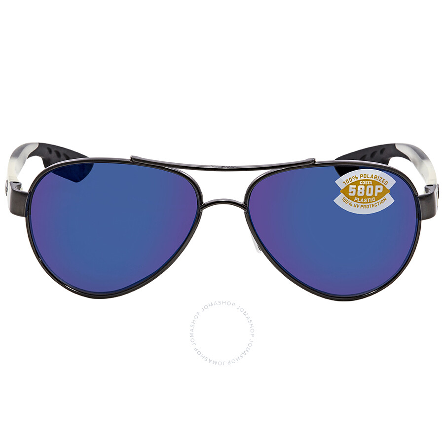 232618ee30b ... Costa Del Mar Loreto Blue Mirror 580P Aviator Sunglasses LR 74 OBMP ...