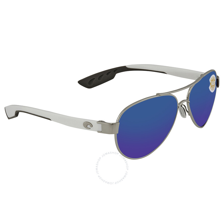 551689fdb2 Costa Del Mar Loreto Blue Mirror Polarized Medium Fit Aviator Sunglasses LR  21 OBMP ...