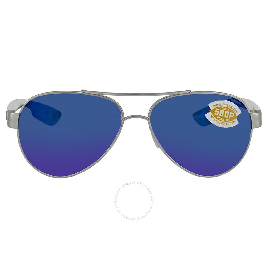 edebd0efd0 ... Costa Del Mar Loreto Blue Mirror Polarized Medium Fit Aviator  Sunglasses LR 21 OBMP ...