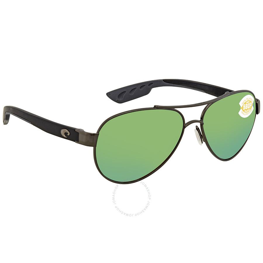 f9496c61c24 Costa Del Mar Loreto Green Mirror 580P Aviator Sunglasses LR 22 OGMP Item  No. LR 22 OGMP