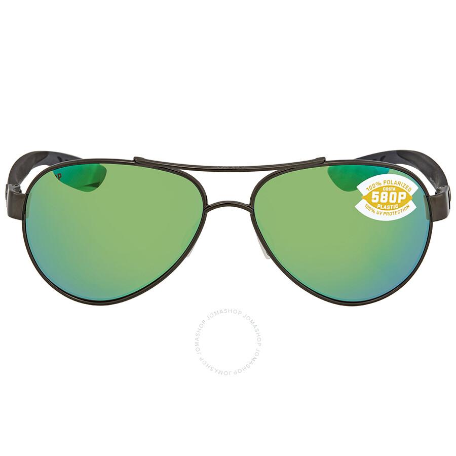 31480945d5 ... Costa Del Mar Loreto Green Mirror 580P Aviator Sunglasses LR 22 OGMP ...