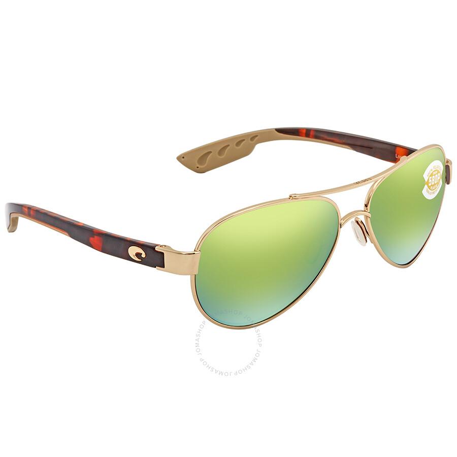95bec2e955 Costa Del Mar Loreto Green Mirror Aviator Sunglasses LR 64 OGMP Item No. LR  64 OGMP