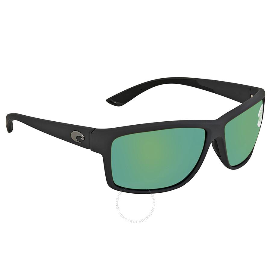 ff85e9b390 Costa Del Mar Mag Bay Green Mirror Polarized Plastic Rectangular Sunglasses  AA 98 OGMP ...