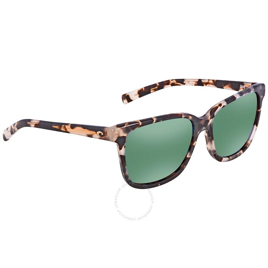 6df3728a8f3c Costa Del Mar May Polarized Green Mirror Medium Fit Sunglasses Item No. MAY  210 OGMGLP