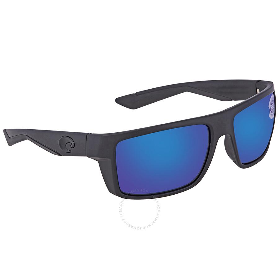 8d59012517 Costa Del Mar Motu Blue Mirror Polarized Glass Rectangular Sunglasses MTU  01 OBMGLP ...