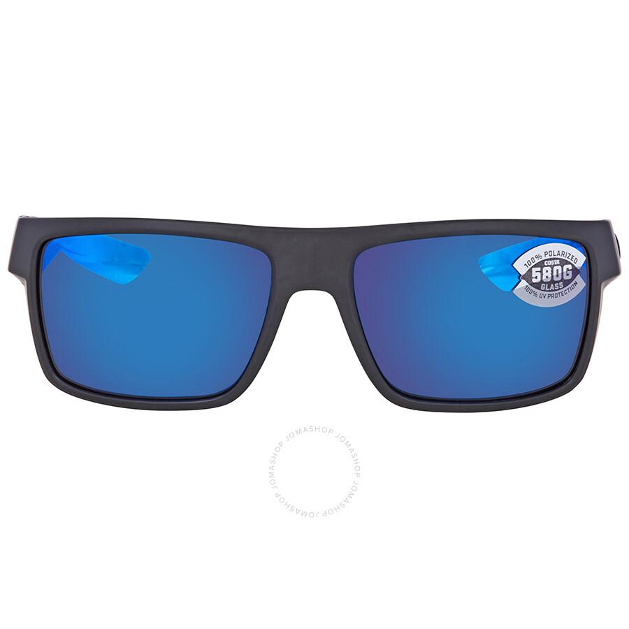 12b1841ca32a9 ... Costa Del Mar Motu Blue Mirror Polarized Glass Rectangular Sunglasses  MTU 01 OBMGLP ...