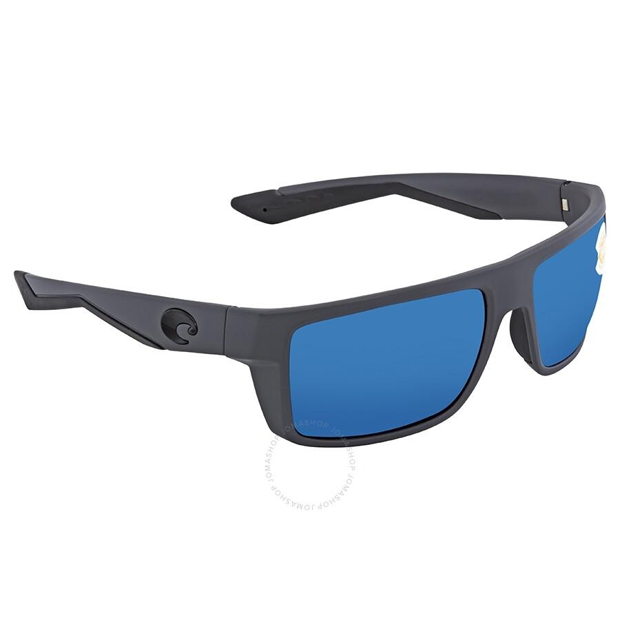 54b304d9cc Costa Del Mar Motu Blue Mirror Polarized Plastic Rectangular Sunglasses MTU  98 OBMP Item No. MTU 98 OBMP