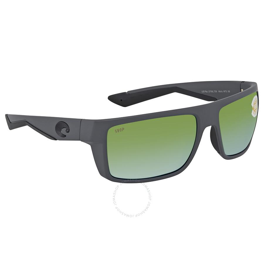 c965721aee Costa Del Mar Motu Green Mirror Polarized Plastic Rectangular Sunglasses  Item No. MTU 98 OGMP