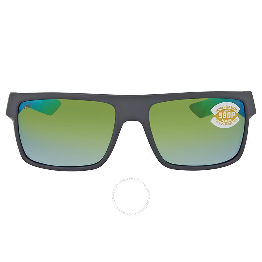 a8c9d0695b ... Costa Del Mar Motu Green Mirror Polarized Plastic Rectangular  Sunglasses MTU 98 OGMP ...
