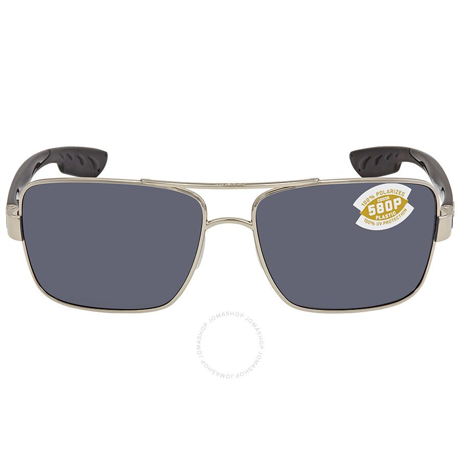 5545ed6b6b15e ... Costa Del Mar North Turn Turn Grey 580P Rectangular Sunglasses NTN 21  OGP ...