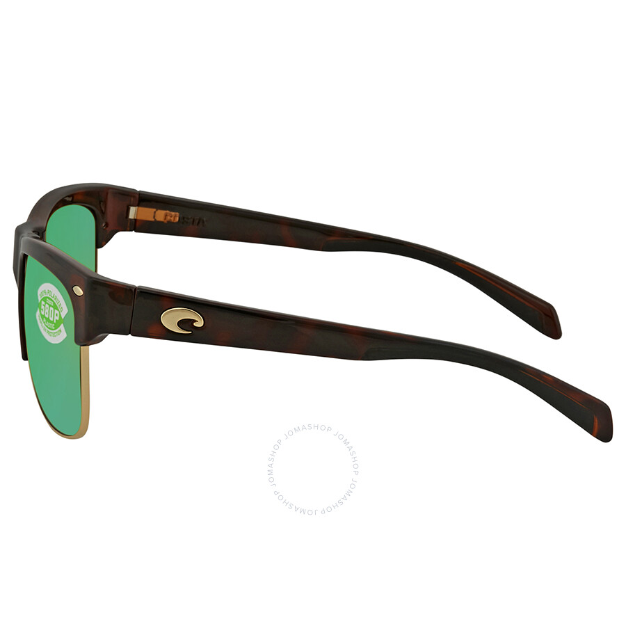 d96cf3f1b43f9 ... Costa Del Mar Pawleys Green Mirror Polarized Plastic Large Fit  Sunglasses PW 66 OGMP