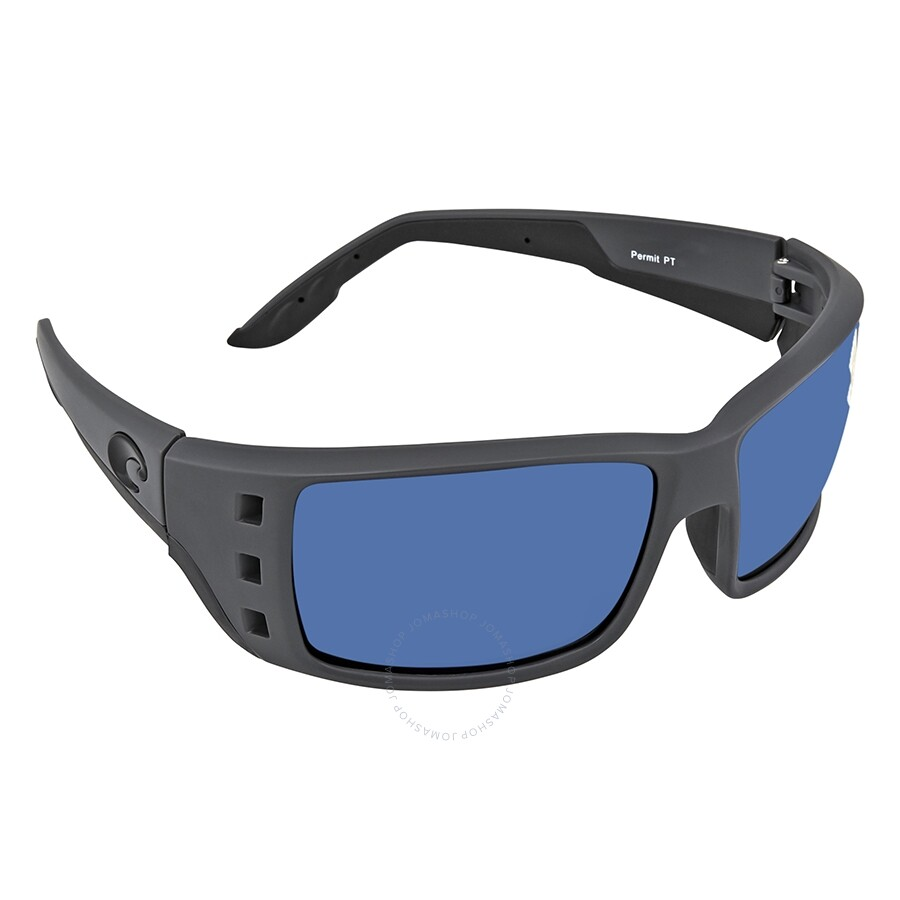 0cb82d43ab94 Costa Del Mar Permit Blue Mirror Polarized Plastic Square Sunglasses PT 98  OBMP Item No. PT 98 OBMP