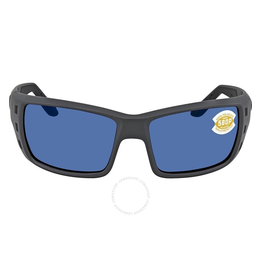 75e623e4a8 ... Costa Del Mar Permit Blue Mirror Polarized Plastic Square Sunglasses PT  98 OBMP ...